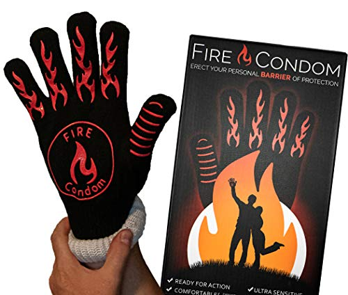 Fire Condom - 932 Degrees Heat Resistant Glove - Includes Hilarious Box, Glove, and Included Instructions