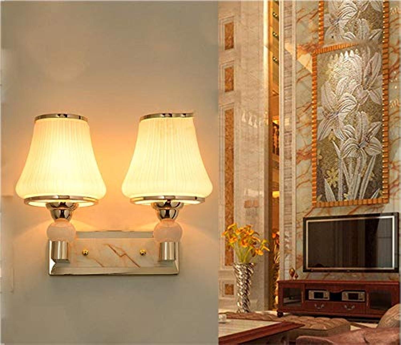 Mode Led Nachttischlampe Wandleuchte Minimalistischen Schlafzimmer Gemütliches Wohnzimmer Balkon Gang Flur Treppe Glas Lampe [Effizienz  A+] Schne Lampen (Gre  2)
