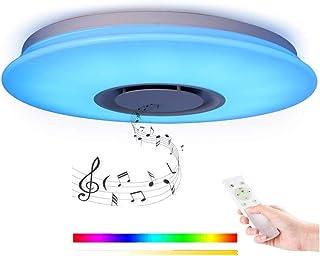 Horevo LEDシーリングライト 音楽 内蔵Bluetoothスピーカー リモコン アプリ操作 調光 調色 常夜灯 明るさメモリ スリープタイム 子供部屋 リビング 寝室 和室 PSE認証済み