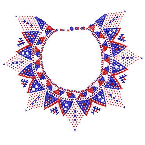 Tradizionale collana nuziale africana Zulu con perline, regalo per lei, multicolore e Senza metallo, cod. N-7237