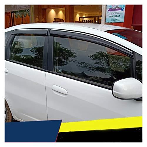 WRDD Windabweiser Für Honda Jazz Fit Fit Fassback 2008-2013 Fenster Visier Entlüftungsschirme Sun Rain Deflektor Guard Auto Markise Autofenster Regenschutz