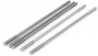 Lote de 10 tornillos de doble rosca M6 x 60 madera 27 mm acero 33 mm