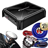 Pioneer GM-D8701 1600 Watts Class D Mono Amplifier with Wired Bass Boost Remote + Wire Kit