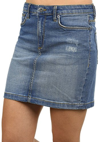 BlendShe Adria Falda (Minifalda, Falda Tejana, Falda Deportiva) para Mujer Elástico, tamaño:L, Color:Medium Blue Washed (29052)