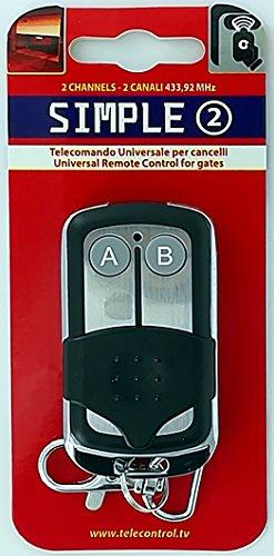Superior SIMPLE 2 - Radiocomando universale a due canali - Frequenza 433.92 MHz codice fisso