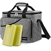 Canway 40-Can Large Insulated Soft Sided Cooler Bag with 2 Ice Packs