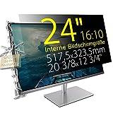 Xianan 24' (16:10) Blickschutzfilter für Breitbild Monitor - 20,37x12,74' / 517,5x323,5mm Sichtschutzfolie Privacy Filter Displayfilter PC Blickschutzfolie - Wir bieten 2 verschiedene 24' Filtergrößen
