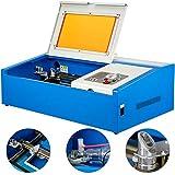 VEVOR Grabador de Láser 40 W Máquina de Grabado Láser de CO₂ con Ventilador Interno Área de Grabado 30 x 20 cm Máquina de Grabado para Grabar Bambú/Tabla/Roca/Cuero/Cristal/Madera/Tela.etc.