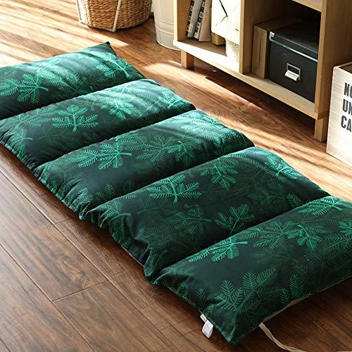 TopJiJapanse Tatami Futon matras, zacht, ademend, single vouwmatras, logeermatras, ideaal voor jongens meisjes spelen en slapen matras 61x167cm(24x65.7inch) groen