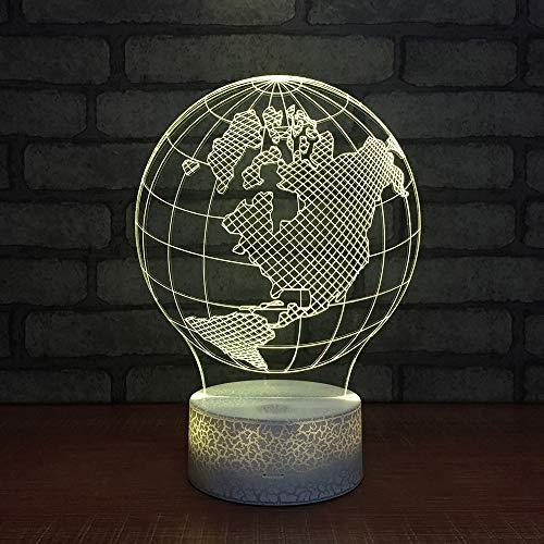 Carte De La Terre 3D Nuit Lampe Art Déco Lumières Lampe De Table À Led Touch Control 16 Couleurs Change Veilleuse Usb Powered Enfants Cadeau Anniversaire Noël Cadeaux