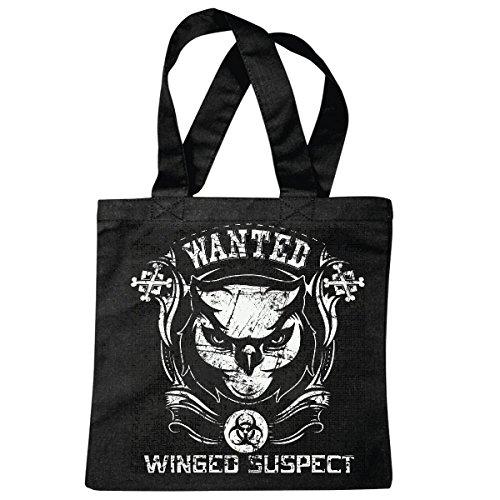 sac à bandoulière WANTED SUSPECT WINGED OWL LIFESTYLE FASHION STREETWEAR HIPHOP SALSA LEGENDARY Sac école Turnbeutel en noir