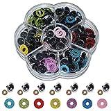 Ojos de Plastic con Arandelas 70 Piezas Ojos de Muñecas Artesanales Ojos de Seguridad de Plástico Oj...