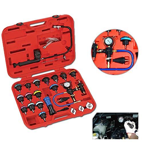 Hengda 28tlg Kühlsystem Abdrückgerät Kühler Drucktester Werkzeug Tester Vakuum Kühlsystemtester Wassertank Lecksucher