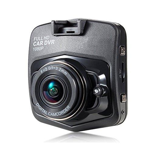 Grewtech Ga10 pour caméra de tableau de bord Tableau de bord Cam véhicule Enregistreur vidéo – 6,1 cm Full HD 1080p H.264, grand angle, vision de nuit, détection de gravité, DE Crash, moniteur de stationnement, mémoire de 32 Go