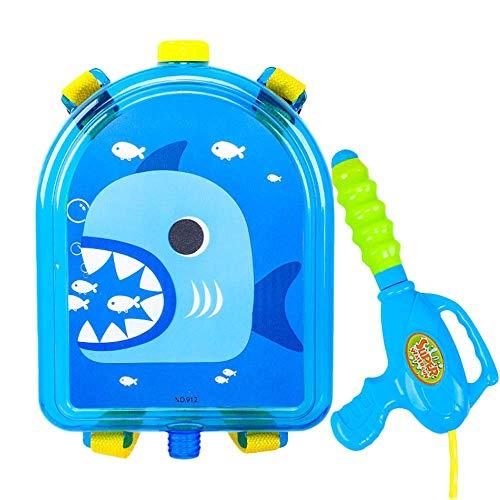 Kinderen water schok rugzak 8m afstandsbediening 1,5 liter grote capaciteit waternevel rugzak schietspel speelgoed zomer buiten water speelgoed haai