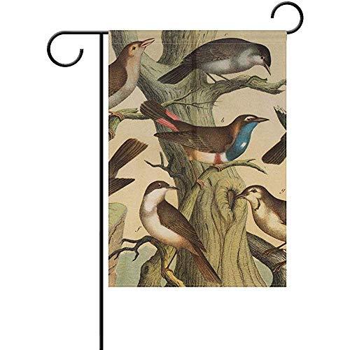 qinzuisp Herfst Schilderij Kunst Soorten Vogels Dubbele Zijpartij Vakantie Vlag Tuin Vlag Huis Outdoor Decoratie St. Patrick's Day