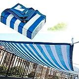 LJIANW Vela de Sombra Toldo Vela, Tamaño Personalizado Balcón Intimidad Cerca De La Pantalla Quinielas Cubierta Vela De Sombra Cubierta del Patio 85% Bloque UV Protección contra El Viento