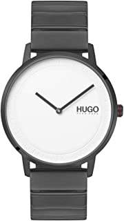 Hugo Boss Unisex'S White Dial Ionic Plated Grey Steel Watch - 1520022