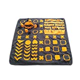 YINXUE Large Dog Snuffle Mat with Interesting Playing Parts Durable Washable (39' x 39') Dog Slow Feeding Mat Puzzle Blanket for Distracting Smell Training Foraging for Dogs