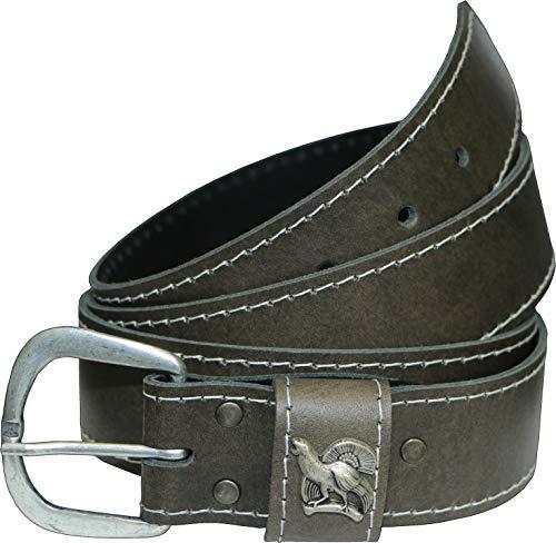 La Chasse - Cintura in pelle bovina con fibbia cervo, cinghiale o rubino, per uomo e donna Auerhahn 130