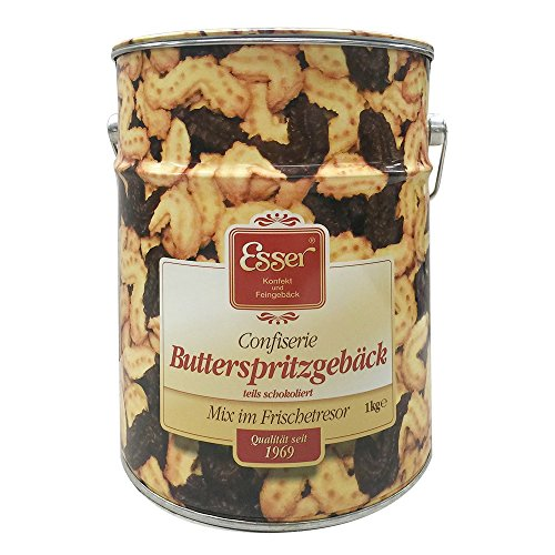 Esser Confiserie Butterspritzgebäck (1kg Metall - Runddose)