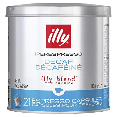 illy Decaffeinated Iperespresso Capsules, 141g (Pack of 2, Total 42 Capsules)