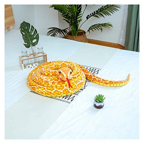 Htipdfg Juguete de Peluche 3M simulación Cobra y Python Serpiente Peluche Juguetes muñecas Suave Animal Peluche Juguete para niños niños Divertido cumpleaños Navidad Regalo (Color : Yellow)