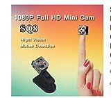 SQ8 Mini Camera Full HD 1080P Micro Camera IR Night Vision DV Camera Motion Sensor DVR Camcorder Mini Cam (Black)
