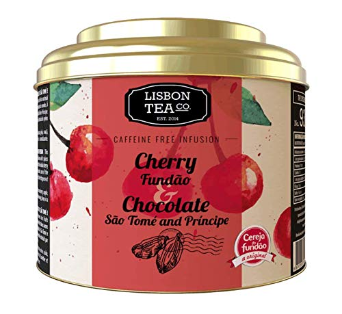Lisbon Tea No. 93 Cherry Chocolate Tea | Kirsch Tee mit Schokolade aus Portugal | natürlich Süß und intensiv | ohne Teein | Loser Infusionstee