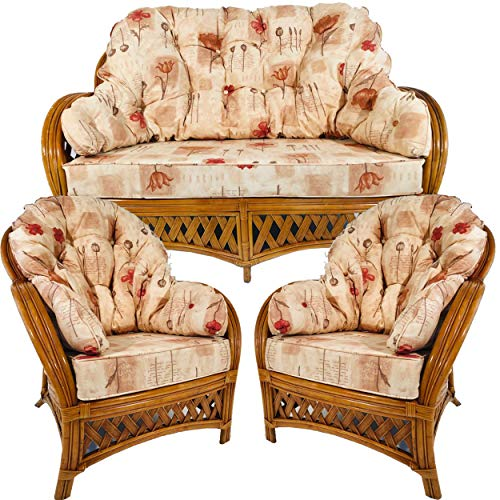 Hartfords Relpacement cushions for a Wrap round Suite of Conservatory Cane Furniture (CUSHIONS ONLY)...
