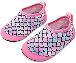 JIASUQI Baby Athletic Slip on Beach Walking Water Shoes for Swim River Pool Pink Scale 6-12 Months