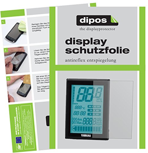 dipos I 3X Schutzfolie matt kompatibel mit Yamaha LCD Bildschirm (E-Bike Bildschirm) Folie Bildschirmschutzfolie