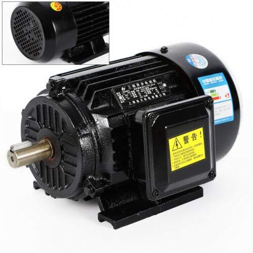 BTdahong 1.5KW Drehstrommotor 2-polige 3-phas Elektromotor Kompressor Asynchronmotor 380V 2830 U/min B3 Kraftstrommotor Wellenhöhe IP44 Schutzart
