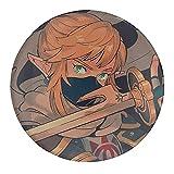 Zelda Link Legend Zelda Games - Juego de imanes de nevera de cristal, imanes de nevera de cristal, divertidos imanes para pizarra blanca, imanes decorativos para niñas y niños (redondos/30 mm)