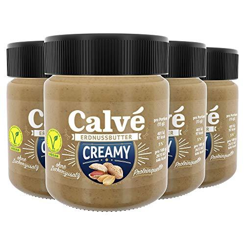 Calve Erdnussbutter (Creamy ohne Zuckerzusatz) ( 4 x 210 g)