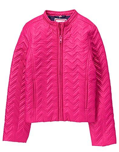 Gymboree Girls' Little Quilted Puffer Jacket, Fuchsia, M