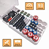 Reeyox Battery Organizer | Wall-Mount Battery Storage Case| Holds 93 Batteries AA AAA C D 9V - with Battery Tester BT-168