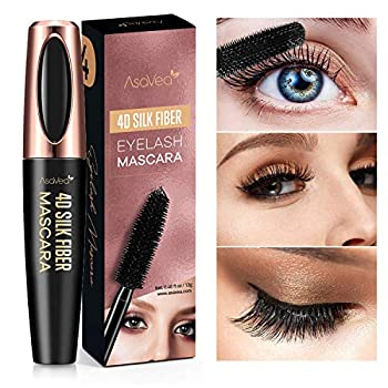 Natural 4D Silk Fiber Lash Mascara Lengthening and Thick Long Lasting Waterproof & Smudge-Proof All Day Exquisitely Lush Full Long Thick Smudge-Proof Eyelashes