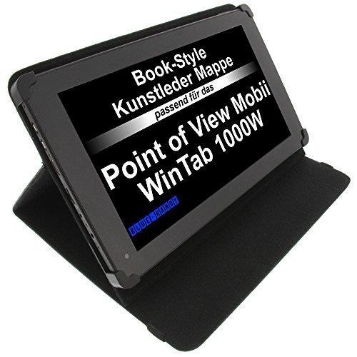foto-kontor Tasche für Point of View Mobii WinTab 1000BW Mobii WinTab 1000W ProTab 2XXL ProTab 3 XXL BookStyle Tablettasche