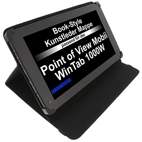 Tasche für Point of View Mobii WinTab 1000BW Mobii WinTab 1000W ProTab 2XXL ProTab 3 XXL BookStyle Tablettasche