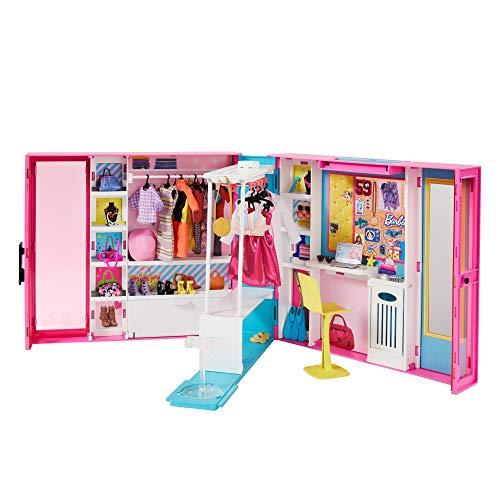 Barbie Fashionistas Le Dressing Deluxe pour poupée, transpor