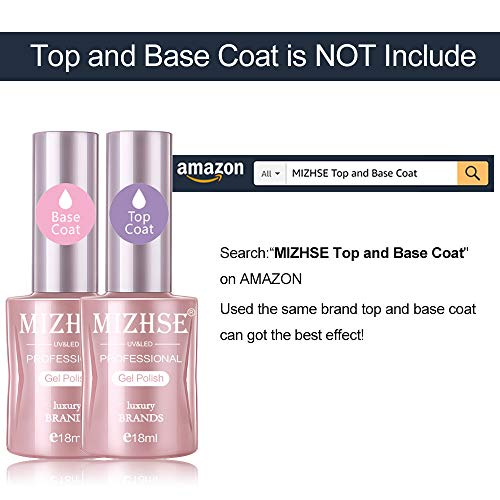 MIZHSE 6X18ML Pink Confetti Gel Nail Polish Kit- 6 Colors Nude Pink Series Gel Polish Glitter Set, Soak Off Nail Lamp Cured Gel Polish Summer Nail Varnish Manicure