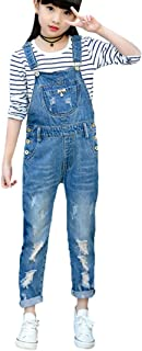 Luodemiss Girls Overall, Overalls for Girls Cute Boyfriend Jeans Denim Romper Long Shortalls