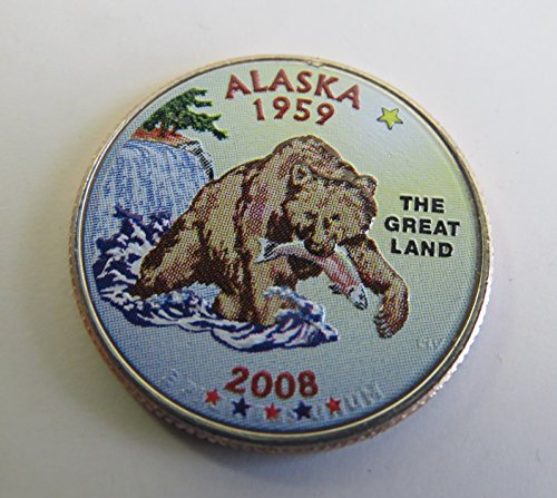 2008 Various Mint Marks Alaska State Colorized Quarter Choice Uncirculated