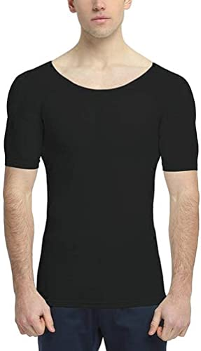 ZZNN Hommes Faux Muscle Simulation T-Shirt Invisible Coupe Slim sous-VêteHommests Four Seasons Universal (XS-XL)