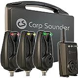 Carp Sounder 3+1 Age one Set - 3 Bissanzeiger + CS Receiver zum Karpfenfischen, Funkbissanzeigerset, Karpfenbissanzeiger, Bissmelder für Karpfen
