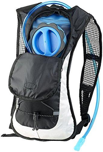 Xcase Trinkrucksack: Ultraleichter Fahrrad-Rucksack mit 2-Liter-Trinksystem und Reflektoren (Fahrradrucksack mit Trinksystem)