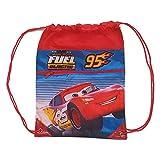 Cars Bolsa Cordones Gym Bag 42cm de, Borsone da Palestra Fitness ed Esercizio Bambini. da Ragazzi, Unisex, Multicolore (Multicolore), 42 cm