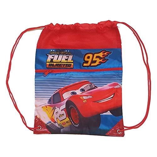 Cars Cordones Gym Bag 42cm Bolsa de Gimnasio Fitness y Ejercicio Infantil, Juventud Unisex, Multicolor (Multicolor), 42 cm