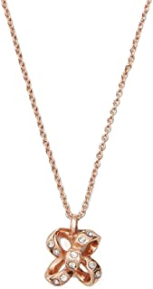Kate Spade New York It's a tie Bow Mini Pendant Necklace Rose Gold/Clear